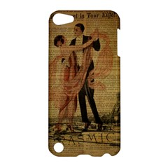 Vintage Paris Eiffel Tower Elegant Dancing Waltz Dance Couple  Apple Ipod Touch 5 Hardshell Case by chicelegantboutique