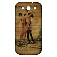 Vintage Paris Eiffel Tower Elegant Dancing Waltz Dance Couple  Samsung Galaxy S3 S Iii Classic Hardshell Back Case
