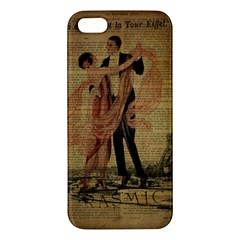 Vintage Paris Eiffel Tower Elegant Dancing Waltz Dance Couple  Iphone 5 Premium Hardshell Case by chicelegantboutique