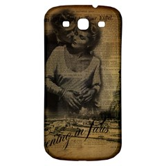 Romantic Kissing Couple Love Vintage Paris Eiffel Tower Samsung Galaxy S3 S Iii Classic Hardshell Back Case by chicelegantboutique