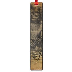 Romantic Kissing Couple Love Vintage Paris Eiffel Tower Large Bookmark by chicelegantboutique