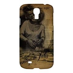 Romantic Kissing Couple Love Vintage Paris Eiffel Tower Samsung Galaxy S4 I9500/i9505 Hardshell Case by chicelegantboutique