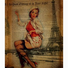 Vintage Newspaper Print Pin Up Girl Paris Eiffel Tower Funny Vintage Retro Nurse  Canvas 20  X 20  (unframed) by chicelegantboutique