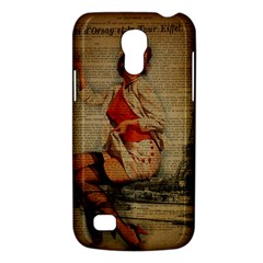 Vintage Newspaper Print Pin Up Girl Paris Eiffel Tower Funny Vintage Retro Nurse  Samsung Galaxy S4 Mini Hardshell Case