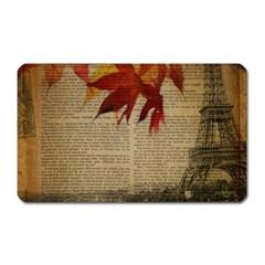 Elegant Fall Autumn Leaves Vintage Paris Eiffel Tower Landscape Magnet (rectangular) by chicelegantboutique