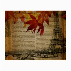 Elegant Fall Autumn Leaves Vintage Paris Eiffel Tower Landscape Glasses Cloth (small) by chicelegantboutique