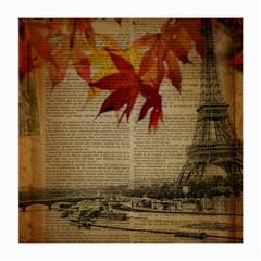 Elegant Fall Autumn Leaves Vintage Paris Eiffel Tower Landscape Glasses Cloth (medium) by chicelegantboutique
