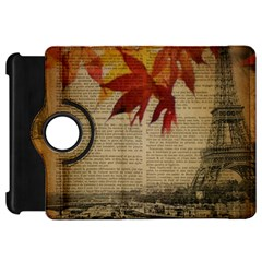 Elegant Fall Autumn Leaves Vintage Paris Eiffel Tower Landscape Kindle Fire Hd 7  Flip 360 Case by chicelegantboutique