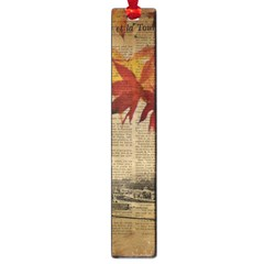 Elegant Fall Autumn Leaves Vintage Paris Eiffel Tower Landscape Large Bookmark