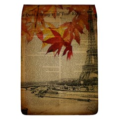 Elegant Fall Autumn Leaves Vintage Paris Eiffel Tower Landscape Removable Flap Cover (large) by chicelegantboutique