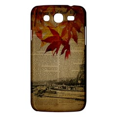 Elegant Fall Autumn Leaves Vintage Paris Eiffel Tower Landscape Samsung Galaxy Mega 5 8 I9152 Hardshell Case  by chicelegantboutique