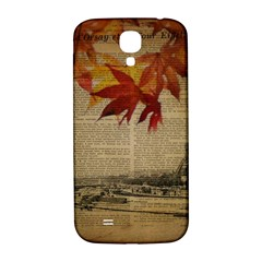 Elegant Fall Autumn Leaves Vintage Paris Eiffel Tower Landscape Samsung Galaxy S4 I9500/i9505  Hardshell Back Case by chicelegantboutique
