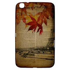 Elegant Fall Autumn Leaves Vintage Paris Eiffel Tower Landscape Samsung Galaxy Tab 3 (8 ) T3100 Hardshell Case  by chicelegantboutique