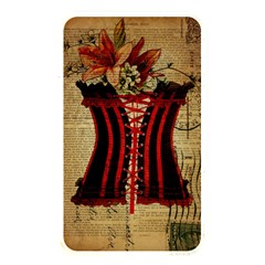 Black Red Corset Vintage Lily Floral Shabby Chic French Art Memory Card Reader (rectangular) by chicelegantboutique