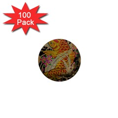 Funky Japanese Tattoo Koi Fish Graphic Art 1  Mini Button Magnet (100 Pack) by chicelegantboutique