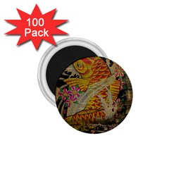 Funky Japanese Tattoo Koi Fish Graphic Art 1 75  Button Magnet (100 Pack) by chicelegantboutique