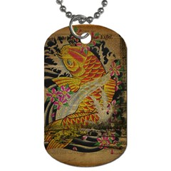 Funky Japanese Tattoo Koi Fish Graphic Art Dog Tag (one Sided) by chicelegantboutique