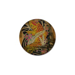 Funky Japanese Tattoo Koi Fish Graphic Art Golf Ball Marker 4 Pack
