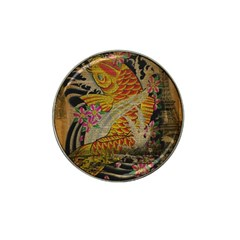 Funky Japanese Tattoo Koi Fish Graphic Art Golf Ball Marker 10 Pack (for Hat Clip)