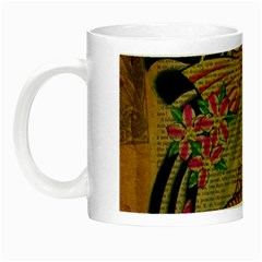 Funky Japanese Tattoo Koi Fish Graphic Art Glow In The Dark Mug by chicelegantboutique