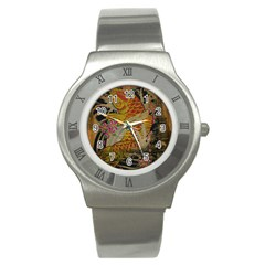 Funky Japanese Tattoo Koi Fish Graphic Art Stainless Steel Watch (unisex) by chicelegantboutique