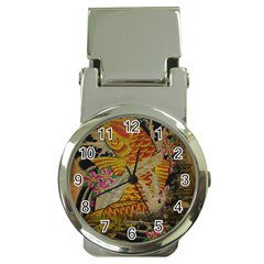 Funky Japanese Tattoo Koi Fish Graphic Art Money Clip With Watch by chicelegantboutique