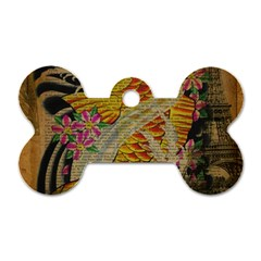Funky Japanese Tattoo Koi Fish Graphic Art Dog Tag Bone (two Sided) by chicelegantboutique