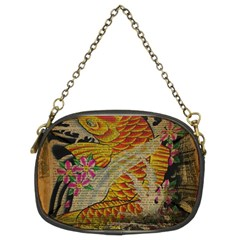 Funky Japanese Tattoo Koi Fish Graphic Art Chain Purse (two Sided)  by chicelegantboutique
