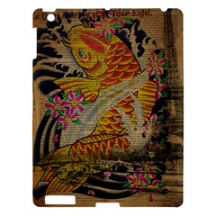 Funky Japanese Tattoo Koi Fish Graphic Art Apple Ipad 3/4 Hardshell Case by chicelegantboutique