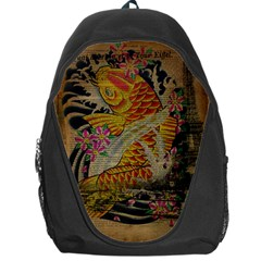Funky Japanese Tattoo Koi Fish Graphic Art Backpack Bag