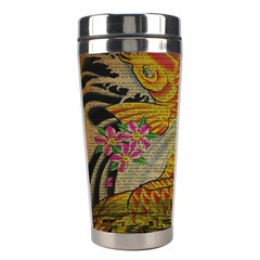 Funky Japanese Tattoo Koi Fish Graphic Art Stainless Steel Travel Tumbler by chicelegantboutique