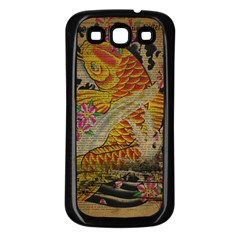 Funky Japanese Tattoo Koi Fish Graphic Art Samsung Galaxy S3 Back Case (black) by chicelegantboutique