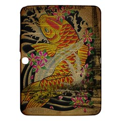 Funky Japanese Tattoo Koi Fish Graphic Art Samsung Galaxy Tab 3 (10 1 ) P5200 Hardshell Case  by chicelegantboutique