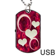 Pink Love Dog Tag Usb Flash 2 Sides By Ellan   Dog Tag Usb Flash (two Sides)   Xfa7x5r2wqki   Www Artscow Com Front
