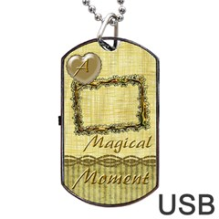 Magical Moment Dog Tag Usb Flash 2 Sides By Ellan   Dog Tag Usb Flash (two Sides)   Ergkkuw0t12r   Www Artscow Com Back