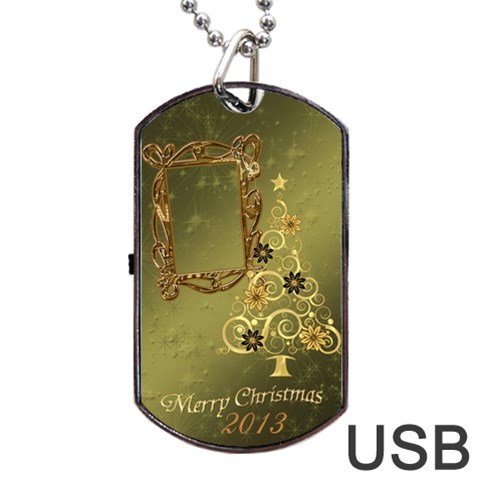Merry Christmas 2013 Dog Tag Usb Flash 1 Side By Ellan   Dog Tag Usb Flash (one Side)   Xzlmk6gm45jv   Www Artscow Com Front