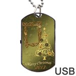 Merry Christmas 2013 Dog Tag USB Flash 1 side - Dog Tag USB Flash (One Side)