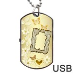 Gold Wedding Lace Dog Tag usb Flash 2 sides - Dog Tag USB Flash (Two Sides)