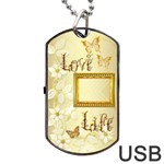 Love Life gold Dog Tag usb Flash 2 sides - Dog Tag USB Flash (Two Sides)