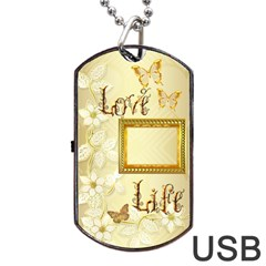Love Life Gold Dog Tag Usb Flash 2 Sides By Ellan   Dog Tag Usb Flash (two Sides)   Z88lhftlnf2w   Www Artscow Com Back