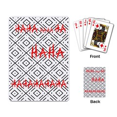 Batman Begins Joker  hahaha  Playing Cards Single Design