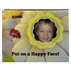 Happy Face Xxxl Cosmetic Bag By Joy Johns   Cosmetic Bag (xxxl)   U1t0sm15opr0   Www Artscow Com Front