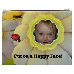 Happy Face Xxxl Cosmetic Bag By Joy Johns   Cosmetic Bag (xxxl)   U1t0sm15opr0   Www Artscow Com Back