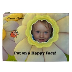 Happy Face Xxl Cosmetic Bag By Joy Johns   Cosmetic Bag (xxl)   Fxsagnnmurjx   Www Artscow Com Front
