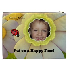 Happy Face Xxl Cosmetic Bag By Joy Johns   Cosmetic Bag (xxl)   Fxsagnnmurjx   Www Artscow Com Back