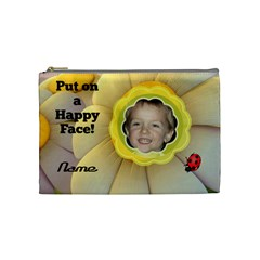 Happy Face Medium Cosmetic Bag By Joy Johns   Cosmetic Bag (medium)   5k7y82xiojs6   Www Artscow Com Front