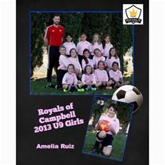 Royals U9 Girls 2013 By Arti Steinkamp   Collage 8  X 10    Aq23lcsr0lwz   Www Artscow Com 10 x8 Print - 2