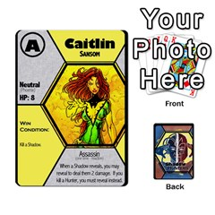 Shadow Hunters / X Men Re Theme (bill s Wedding) By Ajax   Playing Cards 54 Designs   Ky9a8659osmz   Www Artscow Com Front - Heart9