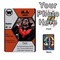Ace Shadow Hunters / X Men Re Theme (bill s Wedding) By Ajax   Playing Cards 54 Designs   Ky9a8659osmz   Www Artscow Com Front - DiamondA