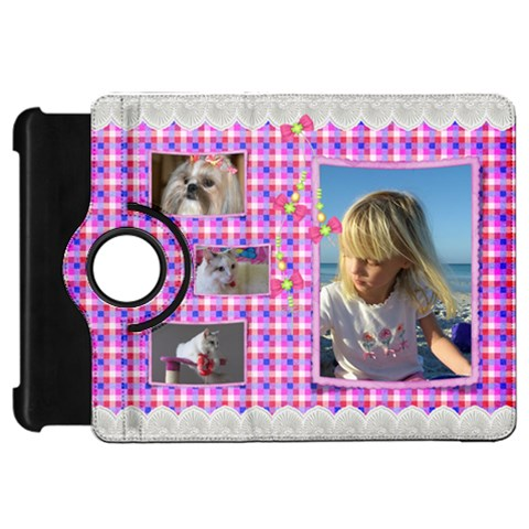 Pink Frill Kindle Fire Hd 7  Flip 360 Case By Deborah   Kindle Fire Hd Flip 360 Case   Mop4x5uorup5   Www Artscow Com Front